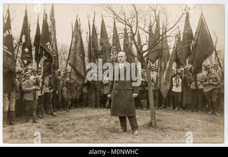 Ernst Thälmann,leader of the German Communist Party,KPD,speech in front of party members,historical photography - Stock Photo