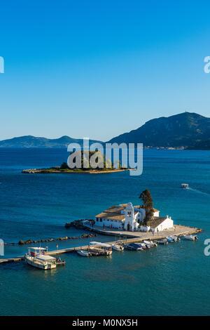 Vlacherna Monastery,Kanoni,Corfu,Ionian islands,Greece - Stock Photo