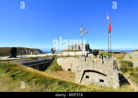 France,Finistere,Iroise Sea,Parc Naturel Regional d'Armorique (Armorica Natural Regional Park),Camaret sur Mer,Crozon,Pen - Stock Photo