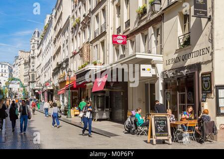 France,Paris,Rue de Montorgueil - Stock Photo