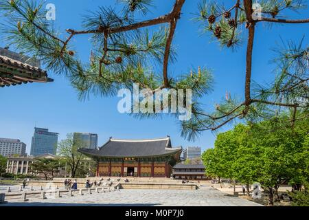 South Korea,Seoul,Jung-gu district,Deoksugung palace or palace of virtuous longevity built by the kings of Joseon - Stock Photo