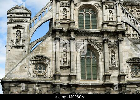 France,Yonne,Auxerre,Place Saint Pierre,Saint Pierre church dated 16th and 17th centuries - Stock Photo