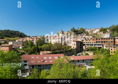 France,Var,Provence Verte,Barjols - Stock Photo