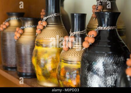 Philippines,Luzon,Albay Province,Tiwi,ceramic fabric Stock Photo