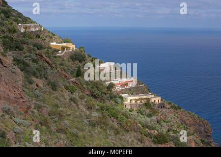 Italy,Sicily,Aeolian Islands,Alicudi Island - Stock Photo