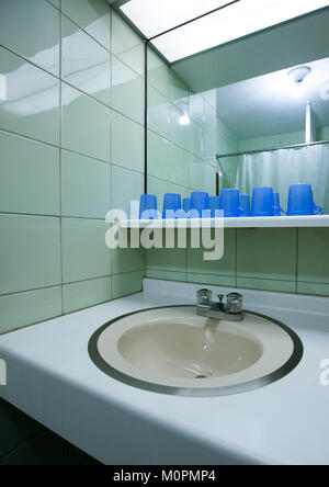 Bathroom for the pioneers in Songdowon international children's camp, Kangwon Province, Wonsan, North Korea - Stock Photo