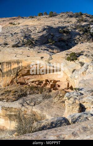 Blanding, Utah - The Butler Wash ruins in Bears Ears National Monument. Bears Ears is a 1.35 million acre scenic - Stock Photo