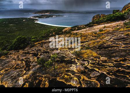 Le Grand Beach in Cape Le Grand National Park, Western Australia - Stock Photo