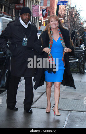 New York, USA. 23rd Jan, 2018. NEW YORK, NY January 23, 2018: Jane Seymour at Build Series to talk about new show - Stock Photo