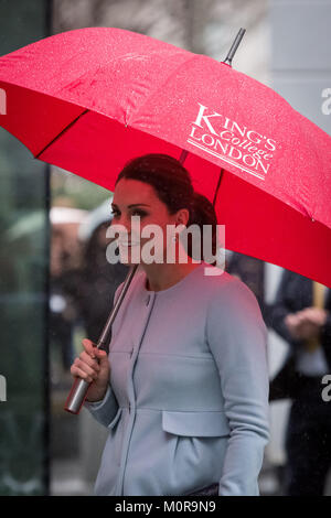 London, UK. 24th Jan, 2018. The Duchess of Cambridge arrives at The Maurice Wohl Clinical Neuroscience Institute, - Stock Photo