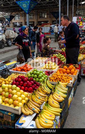 Fruit For Sale At The Main Bazaar, Samarkand, Uzbekistan - Stock Photo