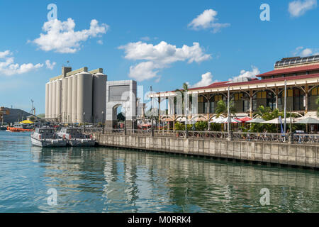Caudan Waterfront, Port Louis, Mauritius, Afrika   Caudan Waterfront, Port Louis, Mauritius, Africa - Stock Photo