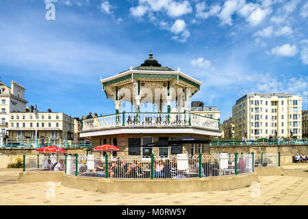 Bandstand Holiday in Brighton - Stock Photo