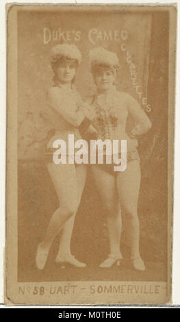 Card Number 58, Uart and Sommerville, from the Actors and Actresses series (N145-4) issued by Duke Sons & Co. to - Stock Photo