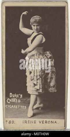 Card Number 89, Irene Verona, from the Actors and Actresses series (N145-4) issued by Duke Sons & Co. to promote - Stock Photo