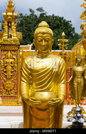 Asia,Thailand,Chiang Mai,Wat Phra That Doi Suthep temple - Stock Photo