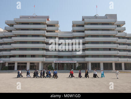 Songdowon international children's camp buildings, Kangwon Province, Wonsan, North Korea - Stock Photo