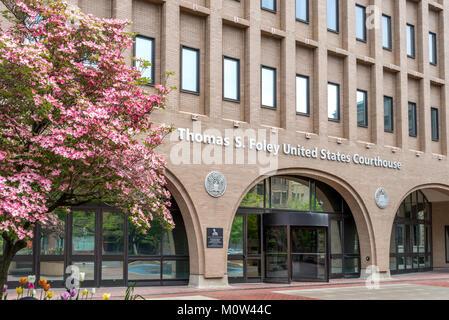 United States Courthouse in Spokane WA - Stock Photo