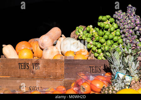 Vegetables in Boroughs 's Market London, England - Stock Photo