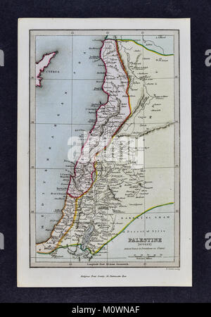 1799 Bible Tract Society Map - Modern Palestine at end of 18th Century - Stock Photo