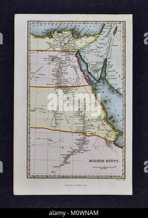 1799 Bible Tract Society Map - Egypt - Cairo Africa - Stock Photo