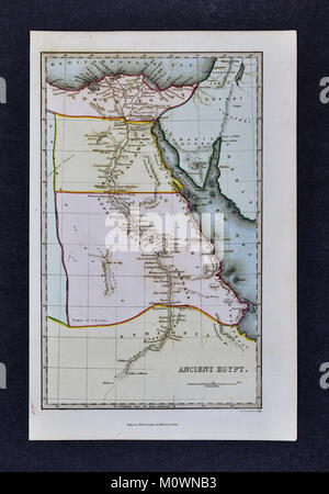 1799 Bible Tract Society Map - Ancient Egypt - Nubia Africa - Stock Photo