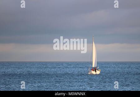 A yacht at sail. - Stock Photo