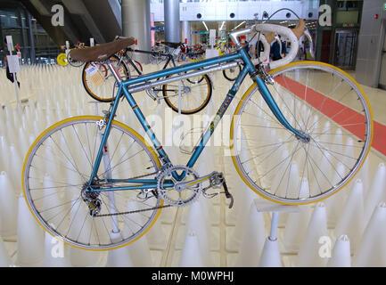 Bangkok, Thailand - November 23, 2012: Italian vintage bicycle MASI display at A Day Bike Fest 2012, Bangkok - Stock Photo