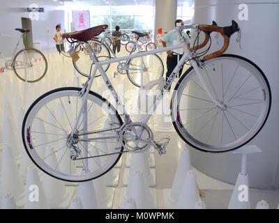Bangkok, Thailand - November 23, 2012: Vintage bicycle EDDY MERCKX display at A Day Bike Fest 2012, Bangkok - Stock Photo