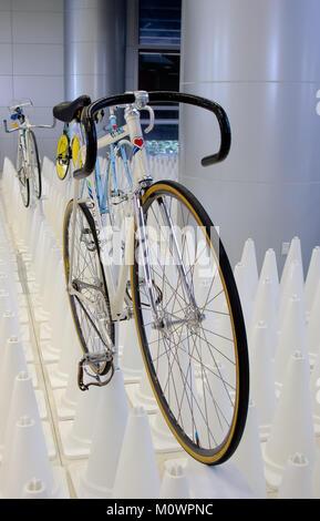 Bangkok, Thailand - November 23, 2012: Vintage bicycle DE ROSA display at A Day Bike Fest 2012, Bangkok - Stock Photo
