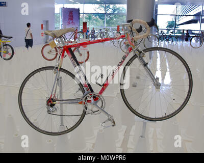 Bangkok, Thailand - November 23, 2012: Vintage bicycle COLNAGO display at A Day Bike Fest 2012, Bangkok - Stock Photo