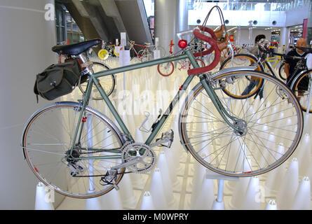Bangkok, Thailand - November 23, 2012: Vintage bicycle SEMAS display at A Day Bike Fest 2012, Bangkok - Stock Photo
