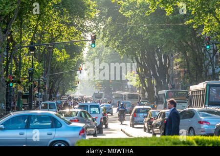 Argentina,Buenos Aires province,Buenos Aires,avenida de Mayo - Stock Photo