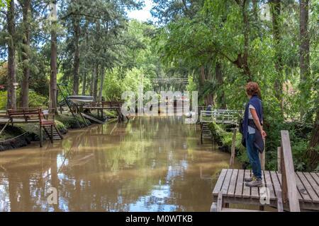 Argentina,Buenos Aires province,Tigre,Parana delta,isla Noel - Stock Photo