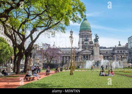 Argentina,Buenos Aires province,Buenos Aires,Plaza Congreso,Palacio del Congreso - Stock Photo