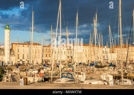 France,Charente Maritime,La Rochelle,floating basin of the Old Port - Stock Photo