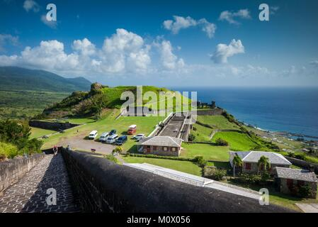St. Kitts and Nevis,St. Kitts,Brimstone Hill,Brimstone Hill Fortress - Stock Photo