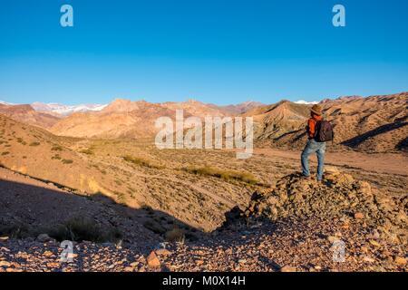 Argentina,San Juan province,Calingasta,Rio Calingasta valley - Stock Photo
