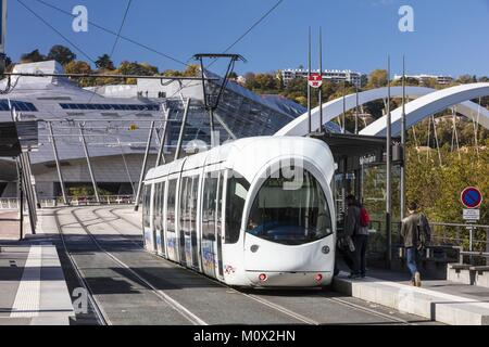 France,Rhone,Lyon,Gerland district,La Confluence district south of the Presqu'ile,first French sustainable quarter - Stock Photo