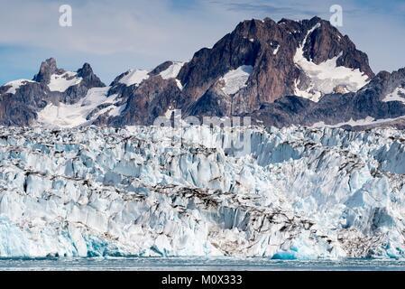 Greenland,Sermersooq,Ammassalik Fjord,Knud Rasmussen Glacier - Stock Photo
