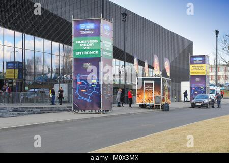 KATOWICE, POLAND - MARCH 5, 2017: Intel Extreme Masters esports tournament in International Convention Centre in - Stock Photo