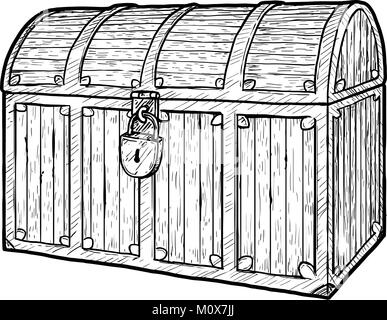 drawing of a treasure chest stock photo 31461932 alamy