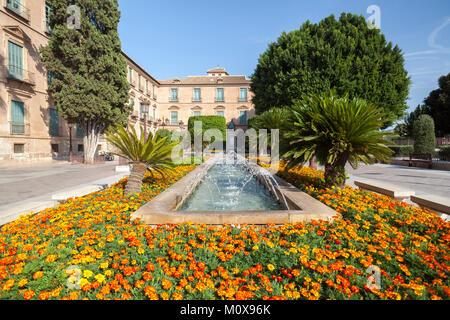 City view, square,Plaza de la Glorieta,Murcia,Spain. - Stock Photo