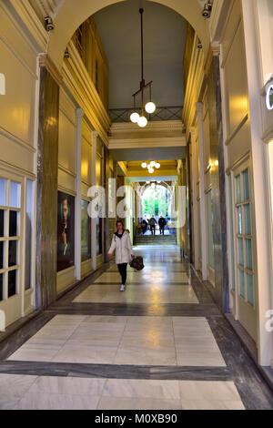 Shopping arcade off Ermou street in central Athens, Greece - Stock Photo
