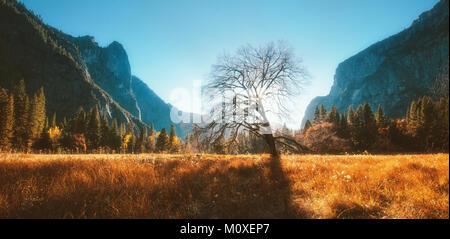 Yosemite Valley in Autumn - Stock Photo