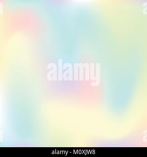 Abstract colorful pastel holographic background. Vector illustration - Stock Photo