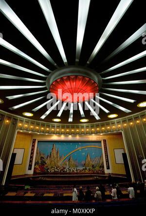 Theatre ceiling in Songdowon international children's camp, Kangwon Province, Wonsan, North Korea - Stock Photo