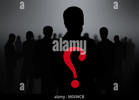 black silhouettes of business people. - Stock Photo