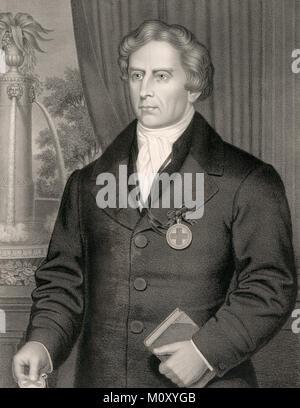 The very revd. Theobald Mathew, Theobald Mathew (1790–1856), Irish Catholic priest and teetotalist reformer - Stock Photo