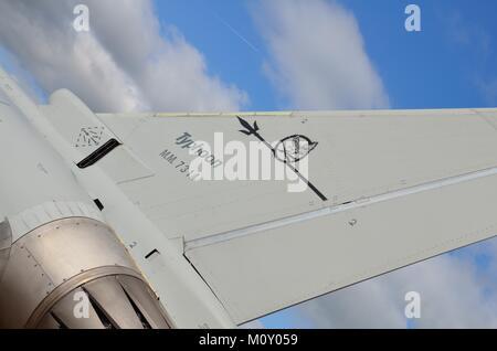 Eurofighter Typhoon Tailplane Details - Stock Photo
